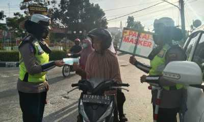 Polres Tanjungbalai Himbau Setiap Pengguna Jalan Agar Memakai Masker
