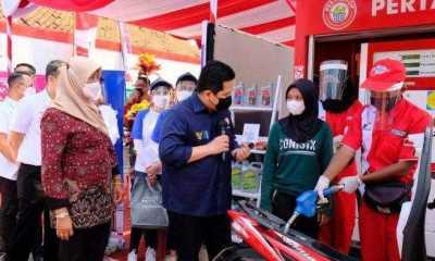 Erick Thohir Apresiasi kehadiran Pertashop Yang Melakukan Penyaluran BBM di Pedesaan