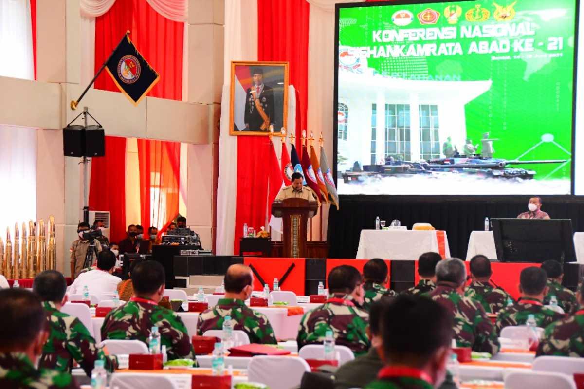 Prabowo Buka Konferensi Nasional Sishankamrata Abad ke-21 di Kampus Bela Negara