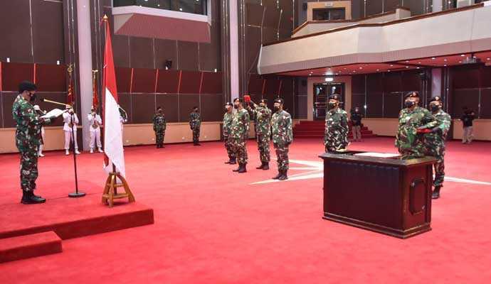 Panglima TNI mutasi 104 Perwira Tinggi TNI, Berikut nama dan jabatannya