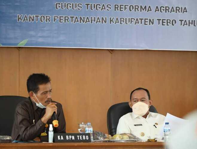 Bupati Tebo Minta Semua Pihak Dukung Reforma Agraria