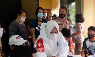 Polres dan Pemko Tanjungbalai Gelar Vaksinasi Massal 1.061 Warga