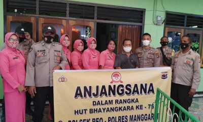 Jelang HUT Bhayangkara, Polsek Reo Anjangsana ke Rumah Purnawirawan dan Warakawuri