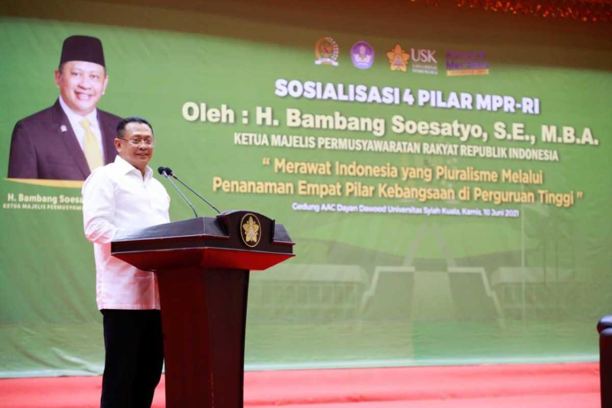 Bamsoet Apresiasi Rektor Universitas Syiah KualaDukungPokok-Pokok Haluan Negara