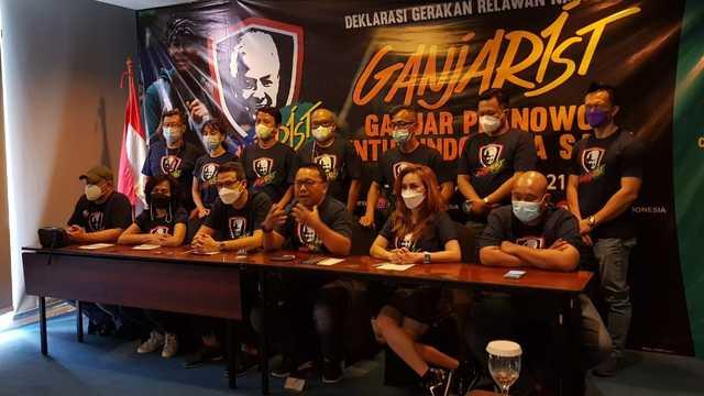 Relawan Ganjarist Deklarasi Dukung Ganjar Pranowo Sebagai Capres di 2024