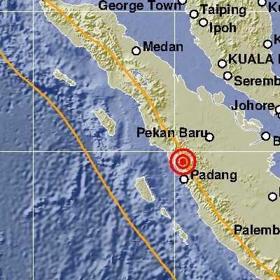Bukittinggi di Guncang Gempa dengan Kekuatan 4.1 magnitudo