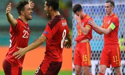 Swiss Pesta Gol, Wales Temani Italia ke Babak 16 Besar