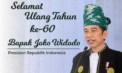 Hari Ini Jokowi Genap 60 Tahun, Ucapan Ultah Berdatangan dari Berbagai Kalangan