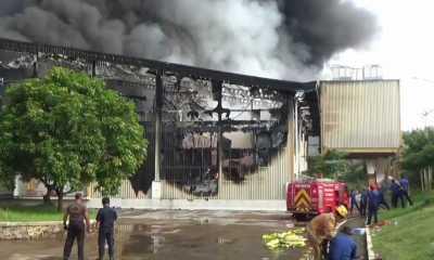 Pabrik Pengolahan Daging PT Dunia Daging Food Industries di Purwakarta Kebakaran