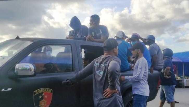 Belasan Preman di Kota Ambon Tak BerkutikmSaat Ditangkapo Polisi