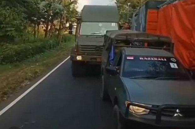 Viral, Pengadang Rombongan Kendaraan Alutsista TNI Ditagih Klarifikasinya