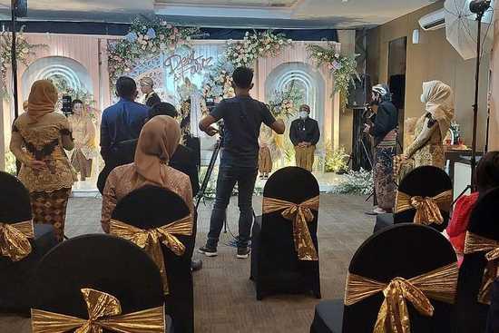 Resepsi Pernikahan di Satu Hotel di Kediri Dihentikan Paksa Oleh Satgas Covid