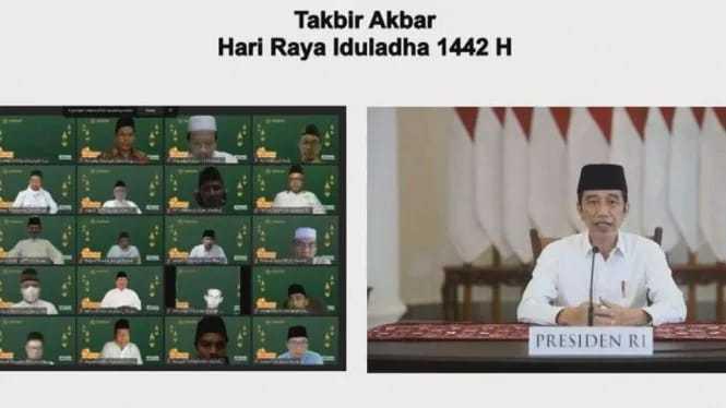Takbir Akbar Secara Online, Jokowi: Idul Adha Tahun Ini Kita Peringati Sederhana