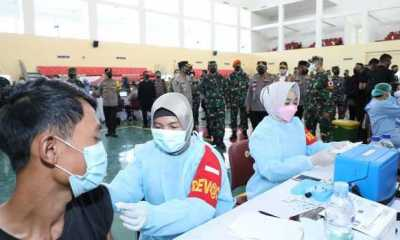 Percepat Vaksinasi di Banten, TNI dan Polri Bantu Tenaga Kesehatan