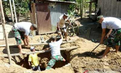 Penuhi Kebutuhan Air Bersih, Satgas TNI dan Warga di Perbatasan Papua Kompak Gali Sumur