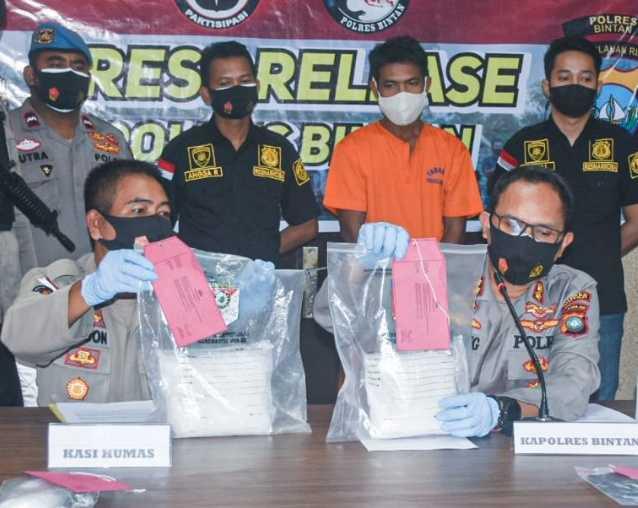 TKI Asal Lombok Ditangkap Polisi di Bintan Karena Nekat Bawa Narkoba Dari Malaysia