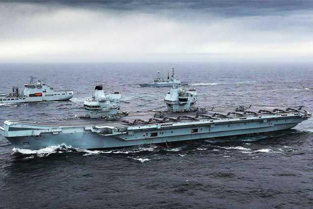 Ada Apa Kelompok Tempur Kapal Induk Inggris Memasuki Samudra Hindia ?