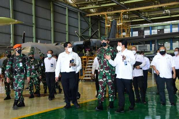 KSAU Marsekal TNI Fadjar Prasetyo Tinjau Pembuatan Pesawat CN235, NC212i dan N219 di PTDI