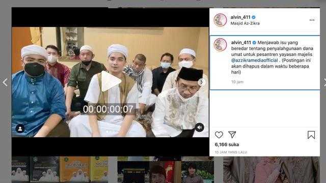 Viral, Beredar kabar Alvin Faiz Dituding Pakai Dana Umat untuk Foya-foya