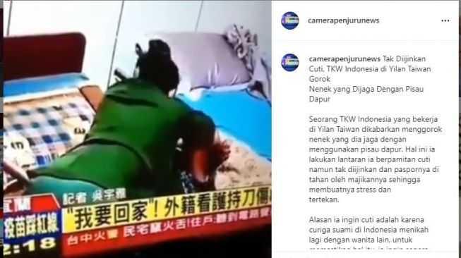 Viral, Hanya Gegara Tak Dapat Izin Cuti, TKW Asal Indonesia Ini Tega Gorok Majikannya di Taiwan