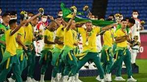 Olimpiade Tokyo – Pengalungan Medali Emas Sepak Bola Brazil Berujung Konflik Sponsor, Begini Ceritanya