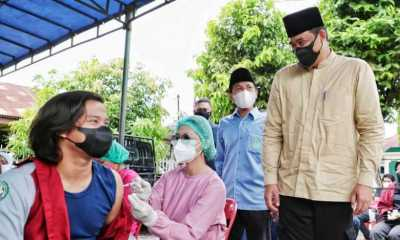 Remaja Masjid di Kota Medan Divaksin