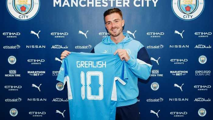 Resmi, Jack Grealish Gabung ke Manchester City