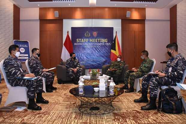 Hadapi Ancaman Laut Masa Mendatang, TNI AL-Angkatan Laut Timor Leste Perkuat Kerja Sama Militer