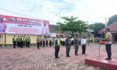 Polres Tanjungbalai Apel Gelar Pasukan Operasi Kepolisian Mandiri Kewilayahan Patuh Toba 2021