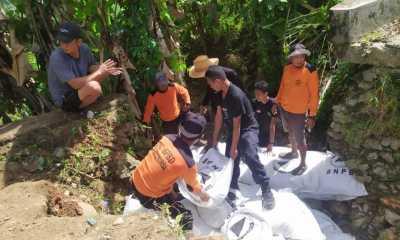 Akses Jalan Desa Lolisang Terputus BPBD Bulukumba Bangun Tanggul Darurat