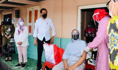 """Dilakukan """"Door to Door"""", Presiden Pastikan Percepatan Vaksinasi di Aceh"""