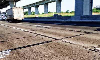 Tiga Titik Jalan Ruas Tol Japek Rusak Mulai Diperbaiki
