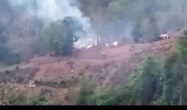 Militer Myanmar Gempur Gerilyawan Penentang Junta Lewat Serangan Udara