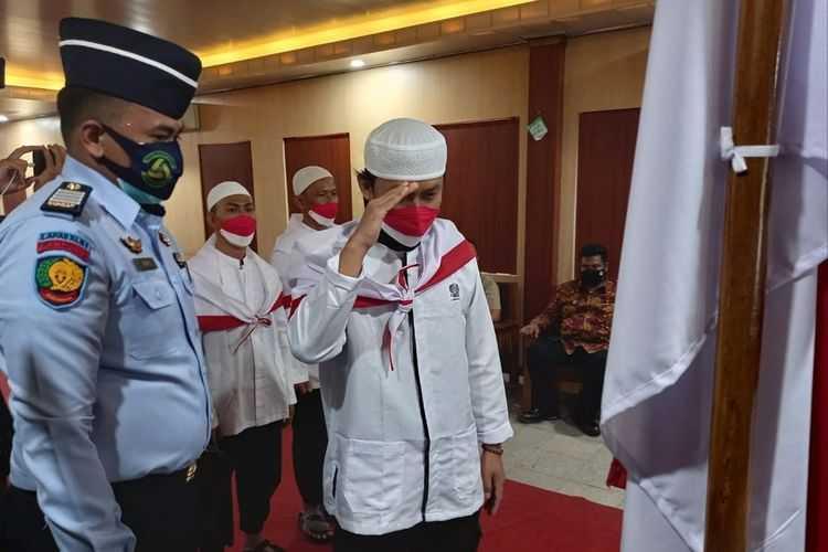 Diucapkan di Lapas Rajabasa Lampung, Empat Napi Terorisme Jaringan JAD Berikrar Setia NKRI