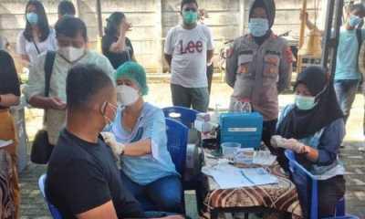 400 Warga Ikut Vaksin Kedua di Polsek Patumbak Polrestabes Medan