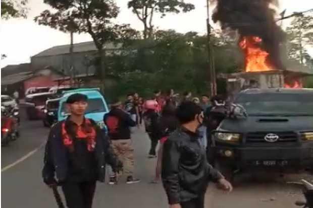 Markas Ormas Dirusak di Cicalengka Bandung, 20 Orang Ditangkap di Sekitar Kantor Pemuda Pancasila