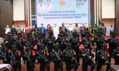 Utusan 89 Atlet, Dikawal Ketat Satbrimob Polda NTT ke Papua