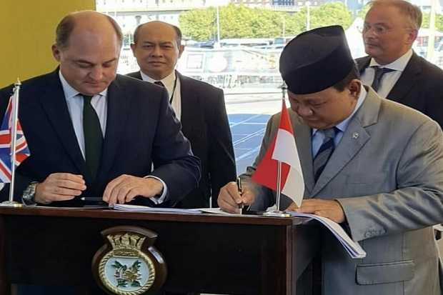 Kunjungi Pameran Industri Pertahanan di Inggris, Prabowo Tandatangani Pembuatan Kapal Perang Canggih