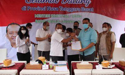 Menteri Investasi Serahkan SK Pemutusan Kontrak PT GTI Gili Trawangan Lombok