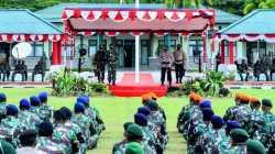 Ketika Kapolri Semangati Prajurit TNI-Polri