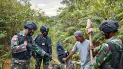 Satgas Pamtas Sisir Jalur Tikus di Perbatasan RI-Malaysia