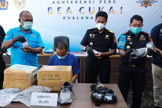 Bea Cukai Bandara Kualanamu Kembali Gagalkan Pengiriman 12,16 kg Paket Narkoba